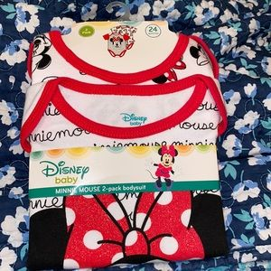 2 pack Minnie Mouse Bodysuits